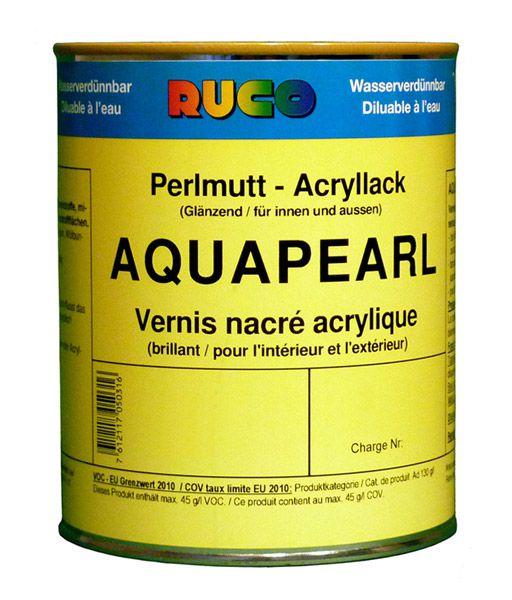 RUCO AQUAPEARL, Perlmutt-Acryl-Lack, blue-pearl