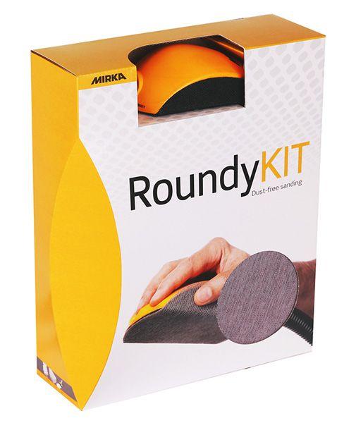 MIRKA Roundy-Kit Handblock mit Absaugung Klett