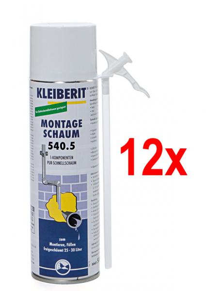 KLEIBERIT 540.5 Montage-Schnellschaum, 12er Pack