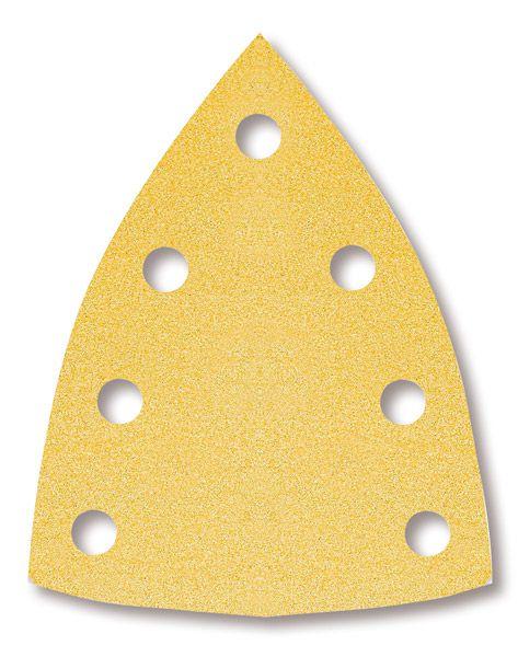 MIRKA Gold Dreiecke 100 x 152 x 152 mm, gelocht, 100er Pack
