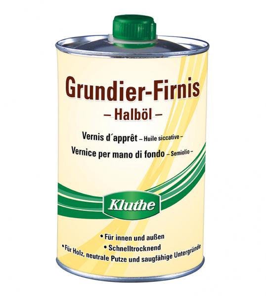 KLUTHE Grundier-Firnis - Halböl 1 LTR