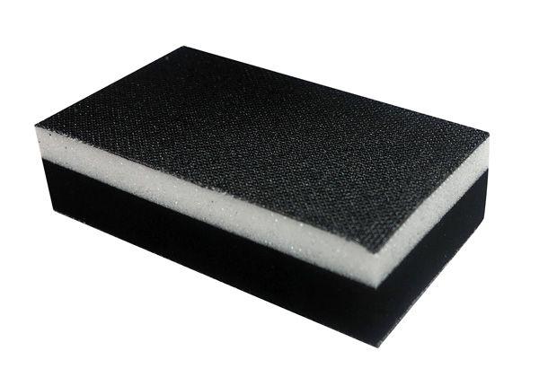 MIRKA Handblock ohne Absaugung 70 x 125 mm zweiseitig Klett
