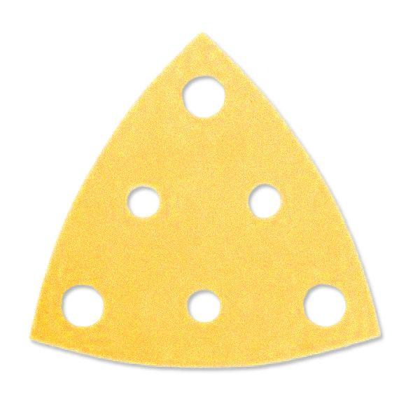 MIRKA Gold Dreiecke 81 x 81 x 81 mm, gelocht, 50er Pack