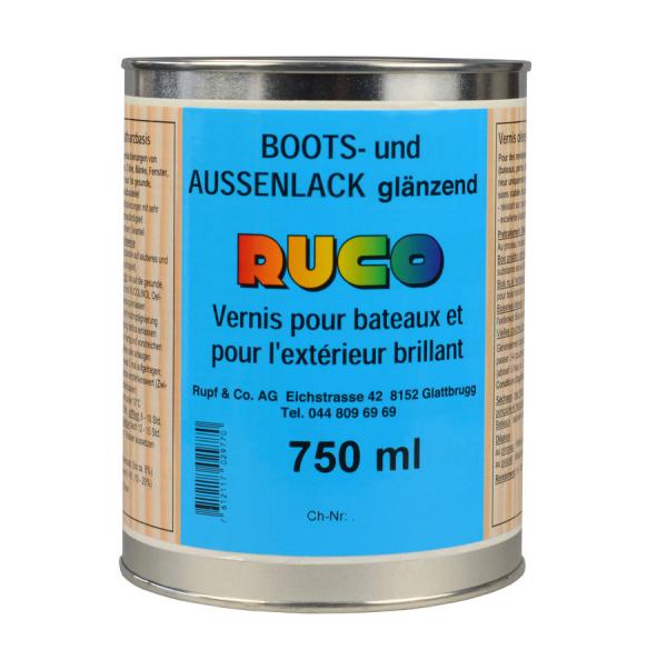 RUCO Bootslack und Außenlack, glänzend, farblos