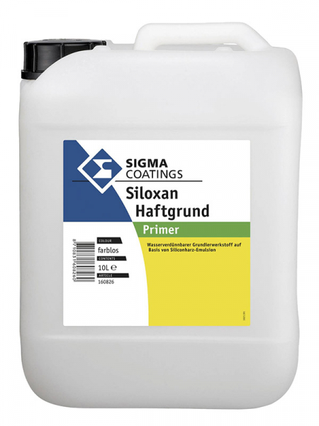 SIGMA Siloxan Haftgrund farblos 10 LTR