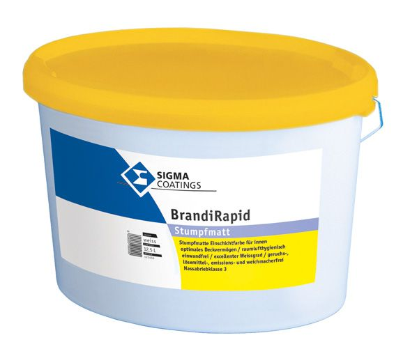 SIGMA BrandiRapid Wandfarbe weiss 12,5 LTR