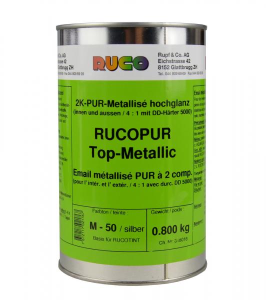 RUCO RUCOPUR 2K-Metalliclack Top-Metallic, glänzend