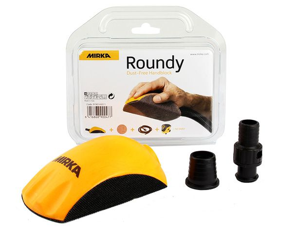 MIRKA Roundy Handblock mit Absaugung Klett