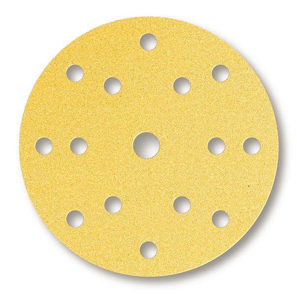 MIRKA Gold Schleifscheiben Ø 150 mm, 15-fach gelocht, Klett, 10er Pack
