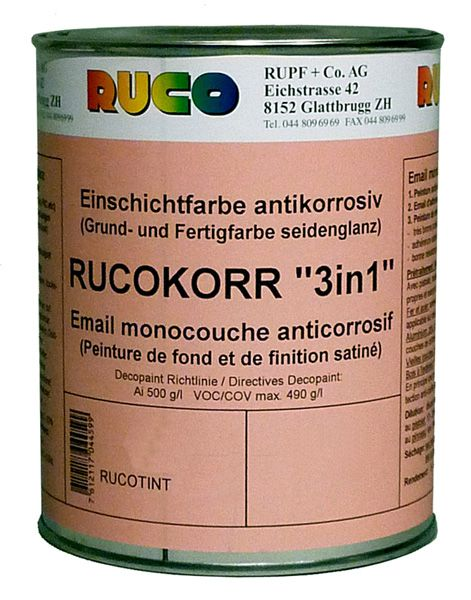 """RUCO RUCOKORR """"3in1"""" Grund- und Endlack seidenglänzend"""