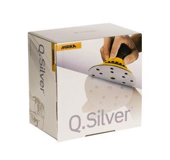 MIRKA Q.Silver® Schleifscheiben Ø 150 mm, 15-fach geloch, Klett, 100er Pack