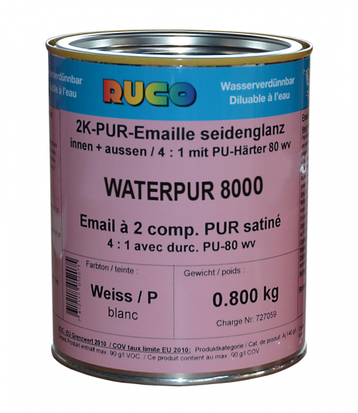 RUCO WATERPUR 8000 2K-PUR-Decklack seidenglänzend