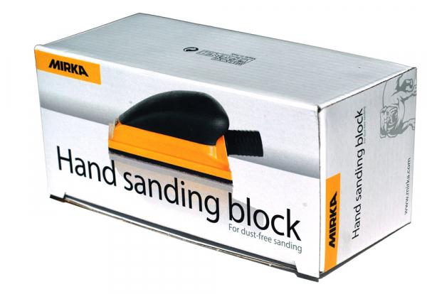 MIRKA Handblock mit Absaugung 70 x 125 mm Klett 13-Loch